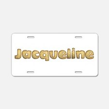 Jacqueline Toasted Aluminum License Plate