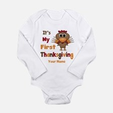 First Thanksgiving Personalized Long Sleeve Infant