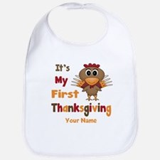 First Thanksgiving Personalized Bib