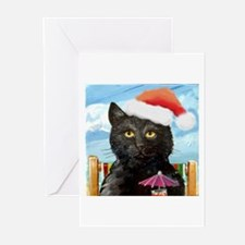 Black Cat Holiday Greeting Cards (Pk of 10)