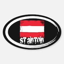 St. Anton Grunge Flag Decal