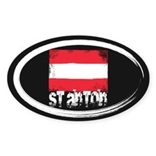 St. Anton Grunge Flag Stickers