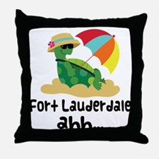 Fort Lauderdale Turtle Throw Pillow