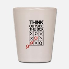 Think outside the box Shot Glass