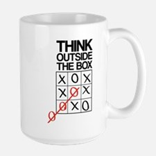 Think outside the box Large Mug