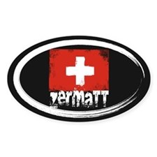 Zermatt Grunge Flag Decal