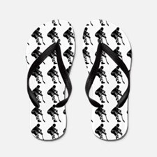 Hockey Player Silhouette or Icon Flip Flops