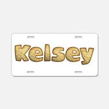 Kelsey Toasted Aluminum License Plate