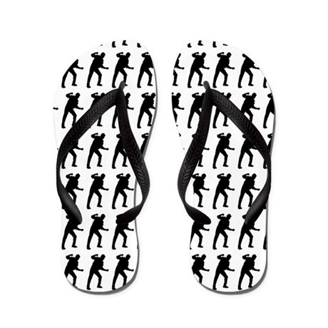 Fighting Silhouette or Icon Flip Flops