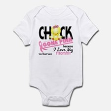 Chick Gone Pink For Breast Cancer Onesie