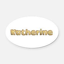 Katherine Toasted Oval Car Magnet