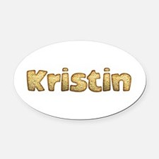 Kristin Toasted Oval Car Magnet