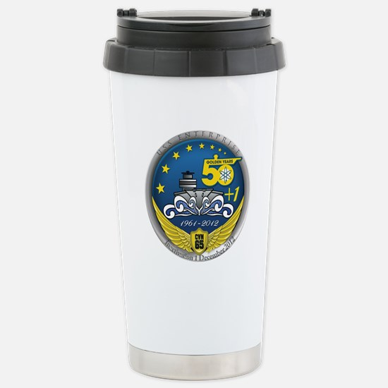 CVN 65 Inactivation! Stainless Steel Travel Mug