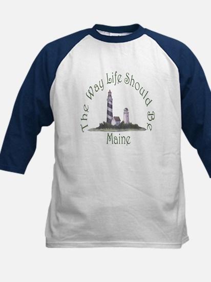 Maine State Motto Kids Baseball Jersey