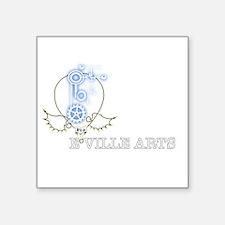 """EVILLE ARTS STEAMPUNK Square Sticker 3"""" x 3"""""""