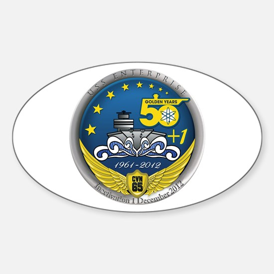CVN 65 Inactivation! Sticker (Oval)