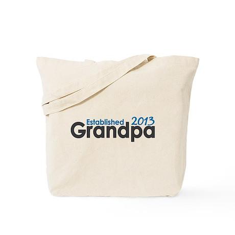 Grandpa Est 2013 Tote Bag