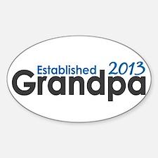 Grandpa Est 2013 Sticker (Oval)