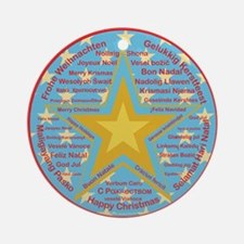Multilingual Christmas Ornament (Round)
