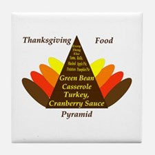Thanksgiving Food Pyramid Tile Coaster
