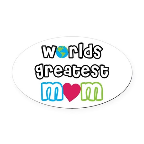 WorldsGreatestMom.png Oval Car Magnet