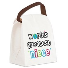 WorldsGreatestNiece.png Canvas Lunch Bag