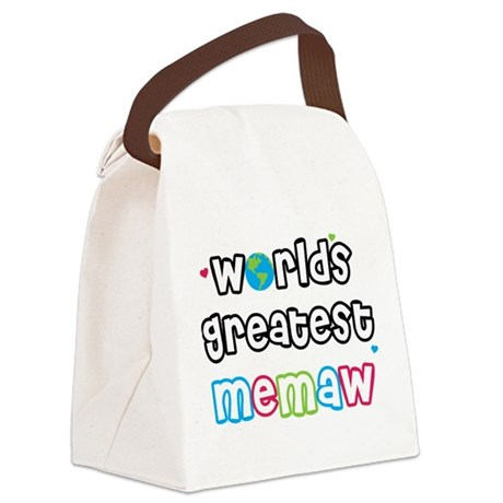 WorldsGreatestMeMaw.png Canvas Lunch Bag
