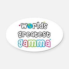 World's Greatest Gamma! Oval Car Magnet
