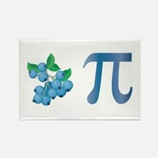 Blueberry Pi Rectangle Magnet