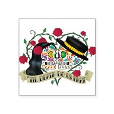 Day Of The Dead Wedding Sticker