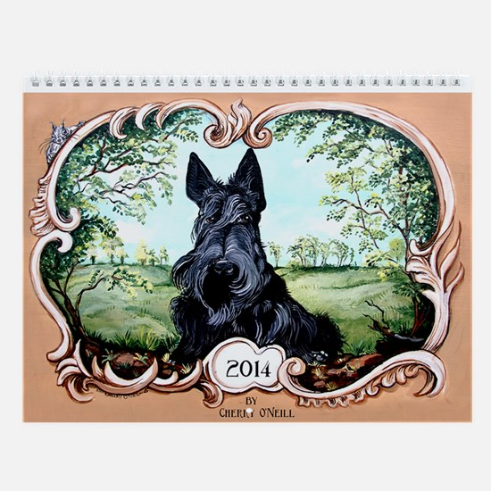 2014 Scottish Terrier Haggis Wall Calendar