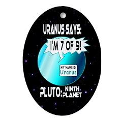 Uranus: 7of9 Oval Ornament
