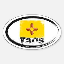 Taos Grunge Flag Decal
