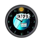 Uranus: 7of9 Wall Clock
