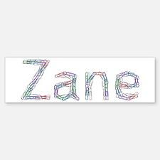 Zane Paper Clips Bumper Bumper Sticker