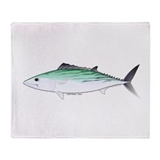 Bonito tuna fish Throw Blanket