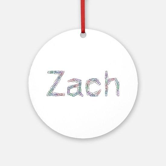 Zach Paper Clips Ornament (Round)