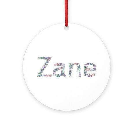 Zane Paper Clips Ornament (Round)