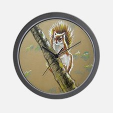 Acorn Bomber, Red Squirrel Wall Clock