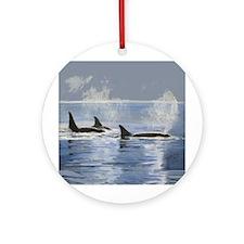 Killer Whale Orca Ornament (Round)