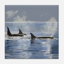 Killer Whale Orca Tile Coaster