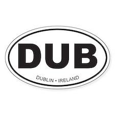 Dublin, Ireland Oval Bumper Stickers