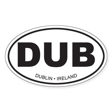 Dublin, Ireland Oval Sticker