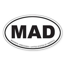 Madison, Wisconsin Oval Decal