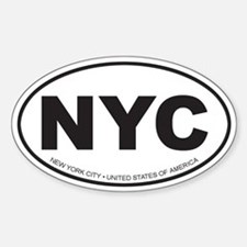 New York City Oval Bumper Stickers