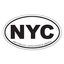 New York City Oval Decal