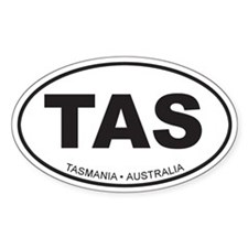 Tasmania, Australia Oval Decal