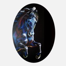 Color Horse Ornament (Oval)