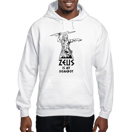 Zeus is my homeboy Hooded Sweatshirt