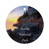 Acadia national park Round Ornaments